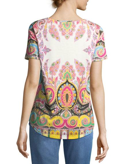 Paisley-Print T-Shirt