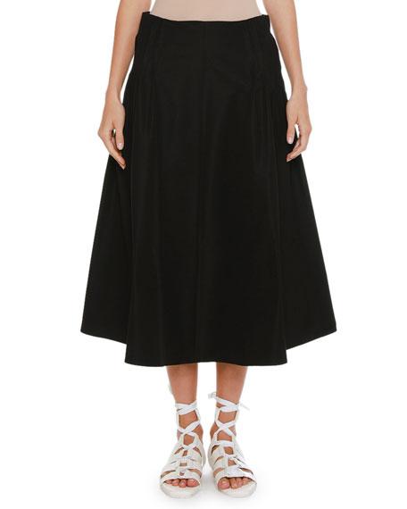 Full A-Line Midi Skirt