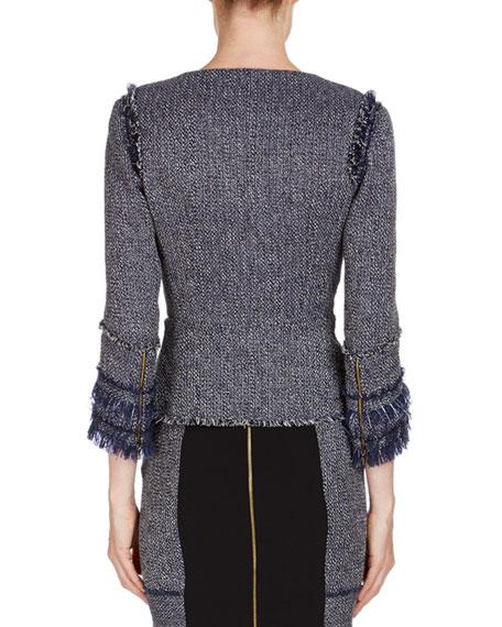 Kirkham 3/4-Sleeve Tweed Jacket