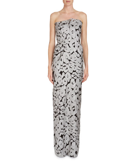 Roland Mouret Henderson Strapless Fil Coupe Column Gown