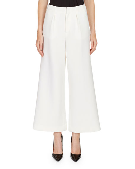 Roland Mouret Broadgate Pleated Wide-Legs Pants and Matching