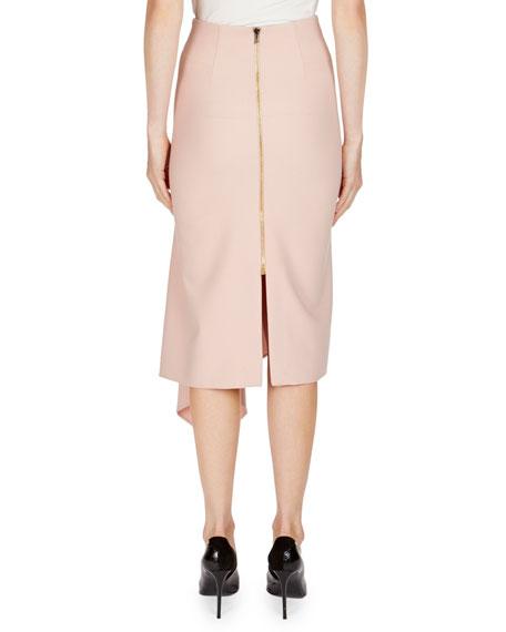 Morpeth Crepe Pencil Skirt w/ Asymmetric Side Drape