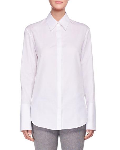 THE ROW Joshua Long-Sleeve Poplin Shirt