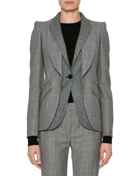 Alexander McQueen Patchwork Houndstooth Jacket and Matching Items