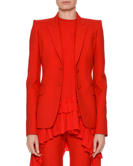 Alexander McQueen Skinny Cropped Suiting Pants and Matching