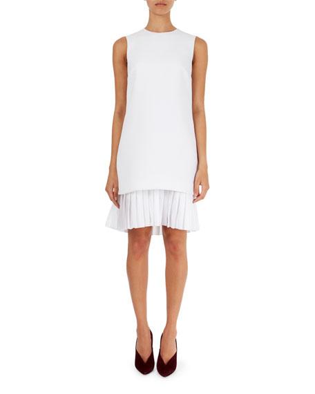 Chemise Pleat-Hem Sleeveless Dress