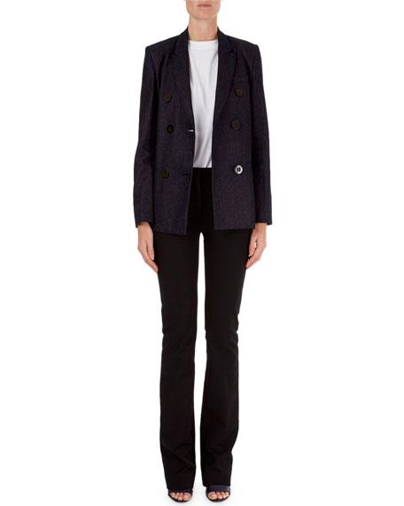 Victoria Victoria Beckham Double-Breasted Blazer & Slim-Leg Pants