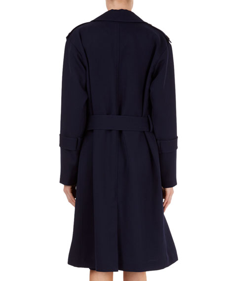 Wool Wrap Trench Coat with Belt