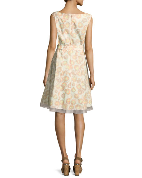 Sleeveless Floral-Print Cotton Dress