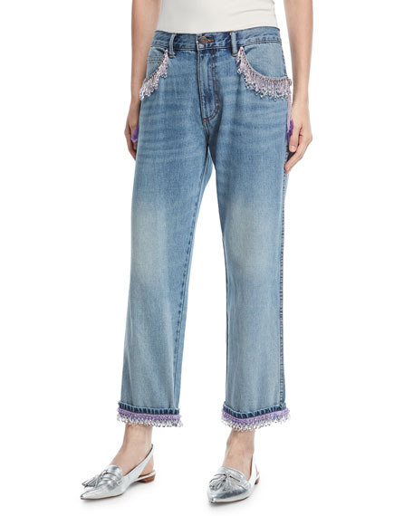 Marc Jacobs Beaded Crop-Leg Jeans and Matching Items