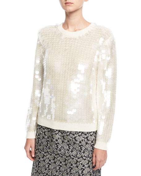 Marc Jacobs Paillette-Embellished Crewneck Sweater