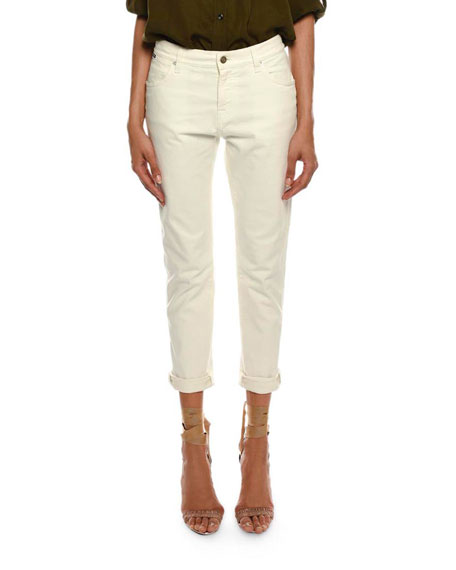 TOM FORD Mid-Rise Cropped Boyfriend-Style Jeans and Matching