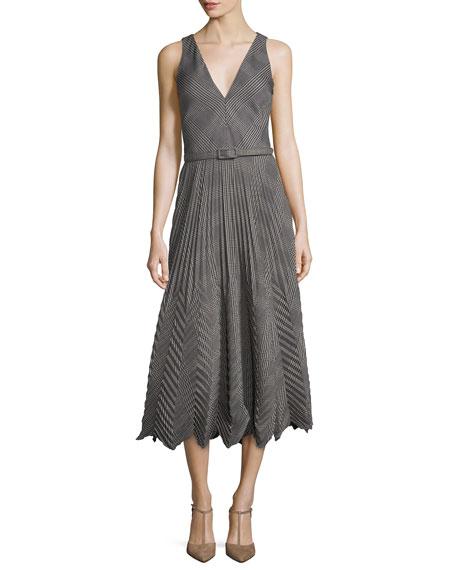 Louise Pleated Plaid Dress