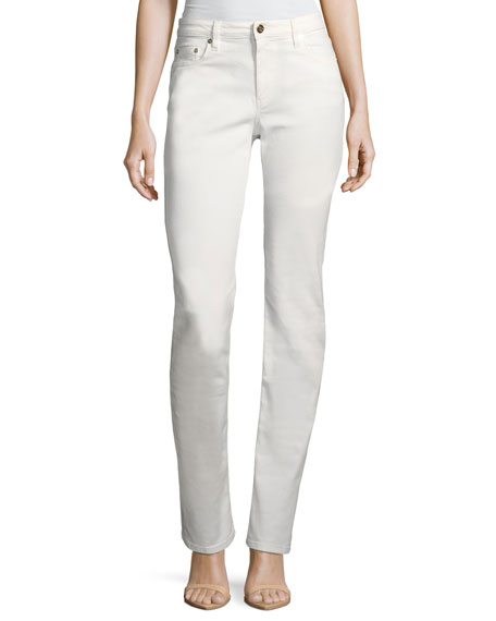 Roberto Cavalli Mid-Rise Straight-Leg Stretch-Denim Jeans and