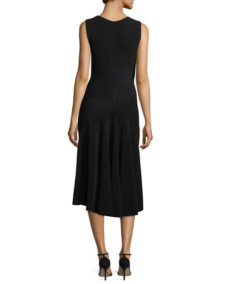 Sleeveless Knit Godet Dress