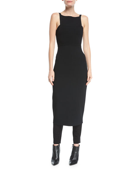 Narciso Rodriguez Knit Tank-Top Low-Back Sheath Dress