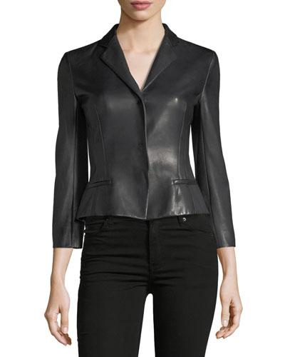 Bracelet-Sleeve Snap-Front Jacket