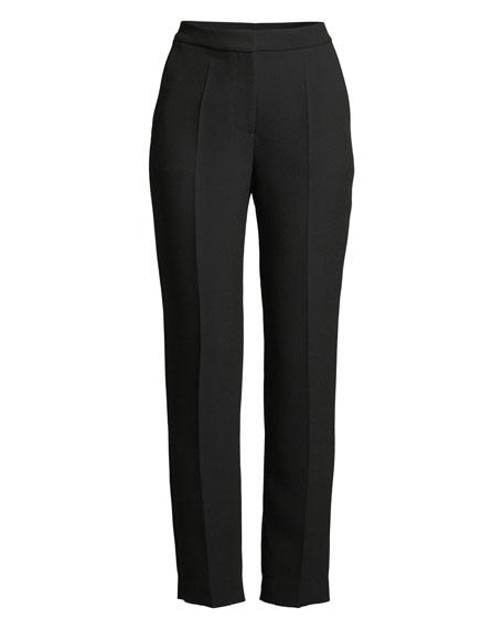 High-Rise Straight-Leg Crepe Pants