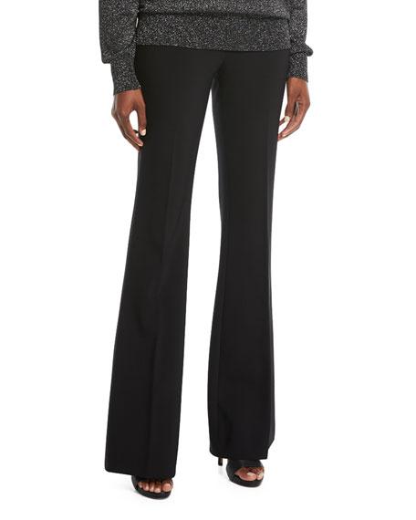 Pleated Wide-Leg Wool Pants