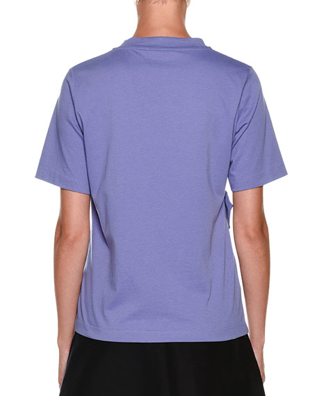 Short-Sleeve Ruffle-Detail Tee