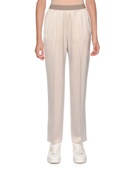 Agnona Elastic-Waist Pull-On Tapered-Leg Pants and Matching Items