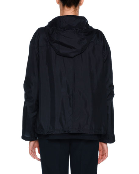 Technical Silk Hooded Jacket