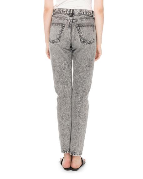 Mid-Rise 5-Pocket Straight-Leg Jeans