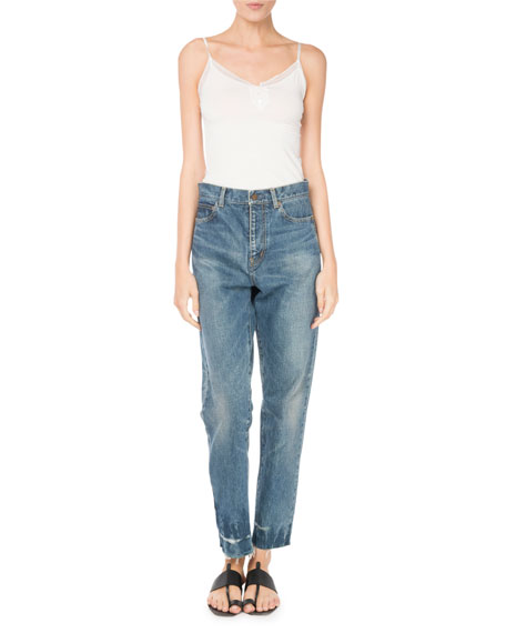 Straight-Leg 5-Pocket Cotton Jeans