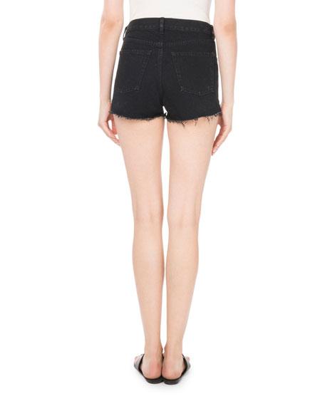 Origami-Waist 5-Pocket Denim Shorts