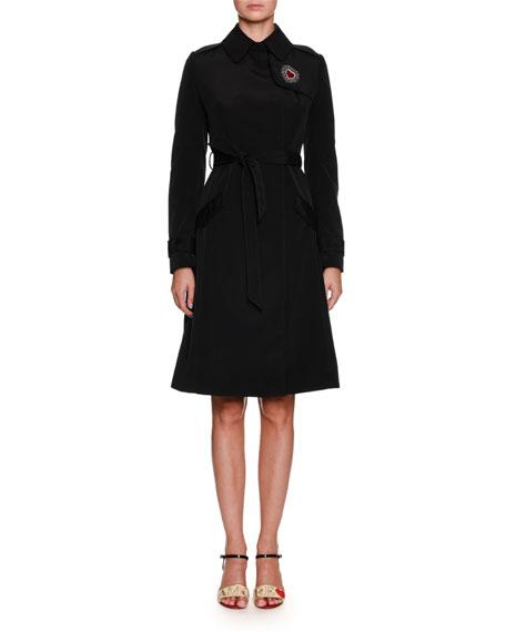 Dolce & Gabbana Belted Rain Coat w/ Leopard