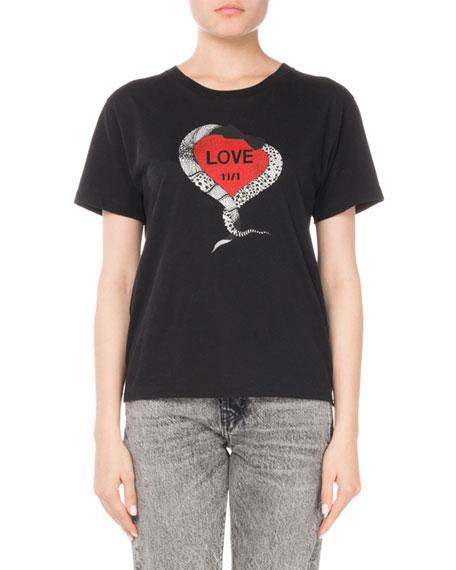 Crewneck Short-Sleeve Graphic T-Shirt