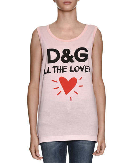 Dolce & Gabbana D&G All The Lovers Scoop-Neck
