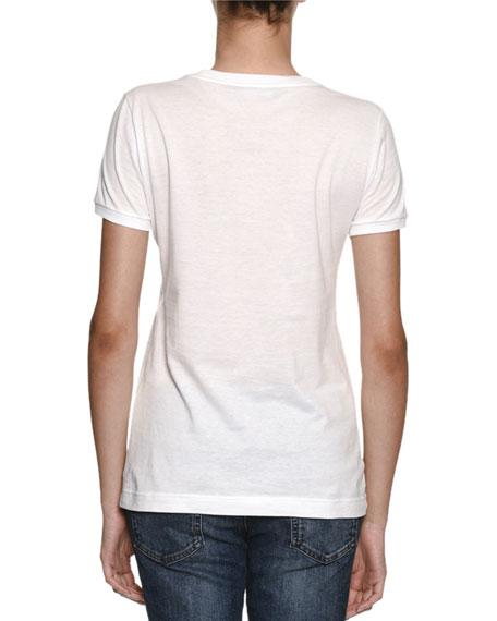 Crewneck Logo Cotton Jersey T-Shirt