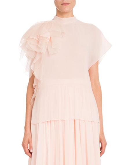 Delpozo Silk Georgette Asymmetric Skirt and Matching Items