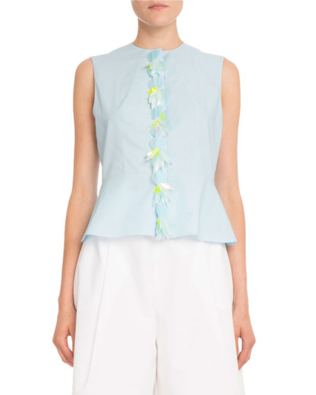 Delpozo Pleated Cotton Poplin Knee-Length Bermuda Shorts and
