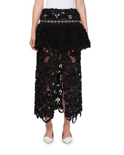Irish Lace Peplum Skirt