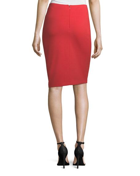 Garden Rose Slim Pencil Skirt