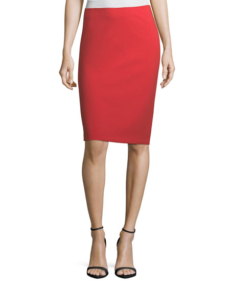 Emporio Armani Garden Rose Slim Pencil Skirt