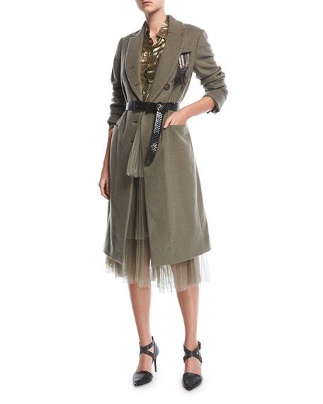 Tiered Tulle Midi Skirt