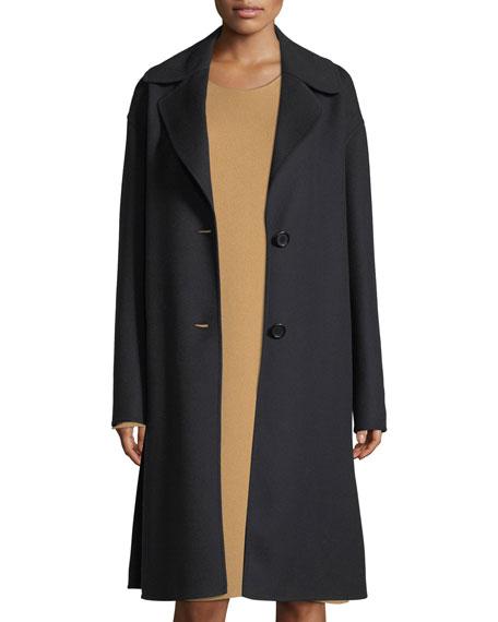 Notch-Collar Opera Coat