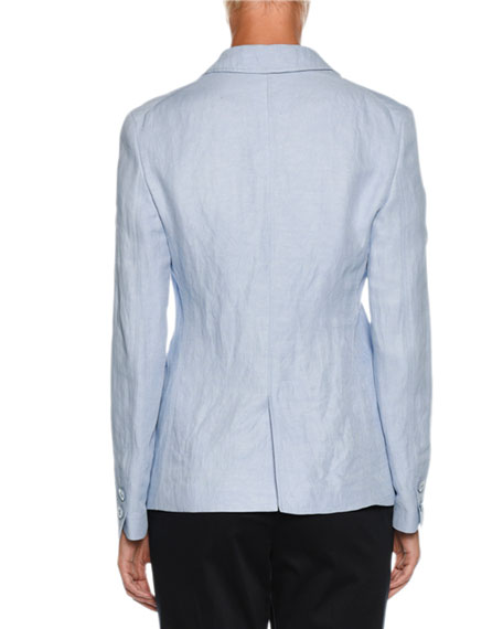 Two-Button Relaxed Linen Jacket