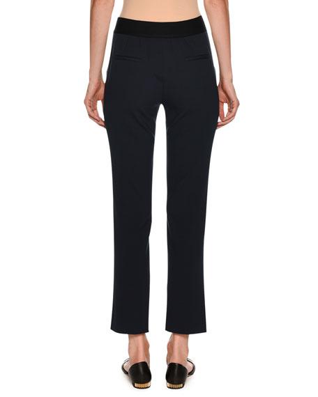 Straight-Leg Ankle Wool Pants