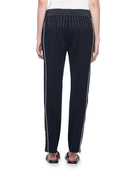 Image 2 of 2: Topstitched Techno Jersey Track Pants