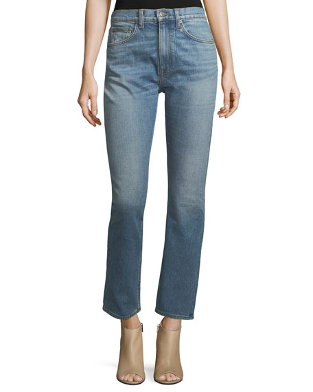 Brock Collection Wright Classic High-Waist Cigarette Jeans
