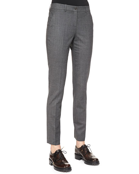 Michael Kors Collection Skinny Woven Ankle Pants