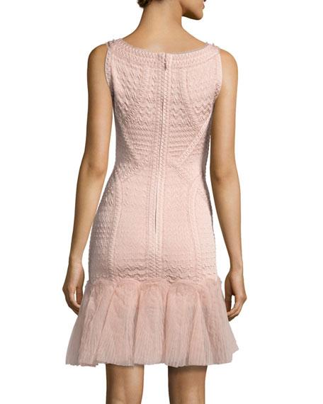 Natia Sleeveless Tulle-Skirt Bandage Dress