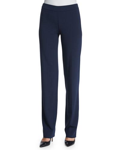 Slim-Fit Side-Zip Pants, Astral Blue