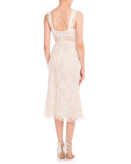Lace Sleeveless A-Line Dress