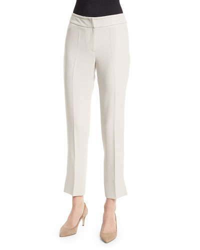 Slim-Leg Cropped Pants, Seashell