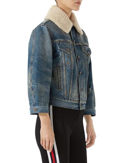 Stone-Washed Denim Jacket